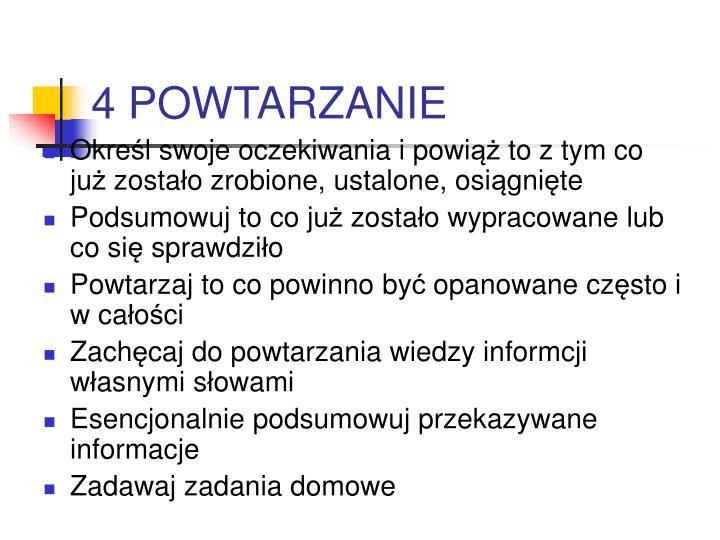 4 POWTARZANIE