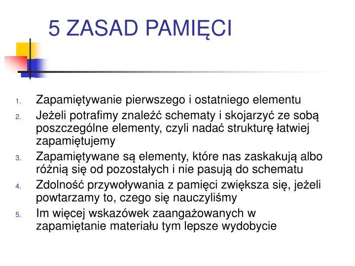 5 ZASAD PAMI