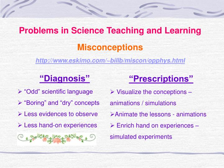Problems in Science Teaching and Learning
