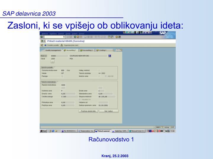 SAP delavnica 2003