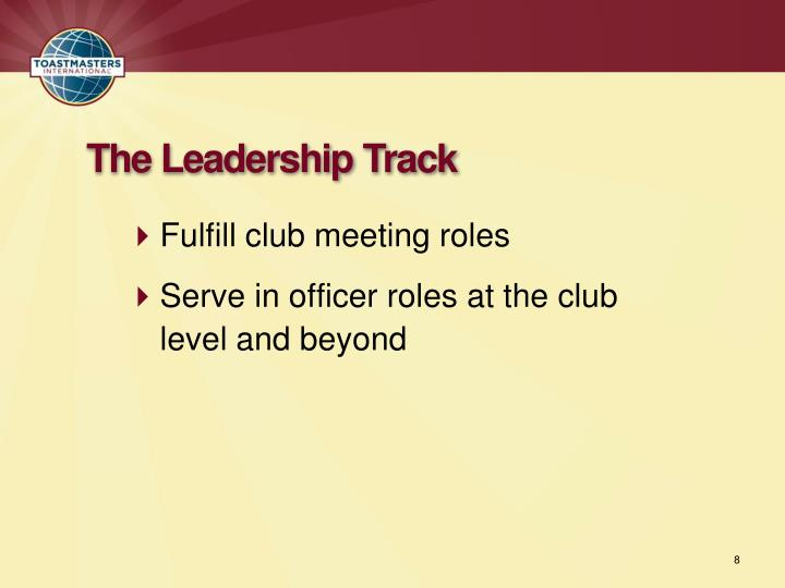 Fulfill club meeting roles