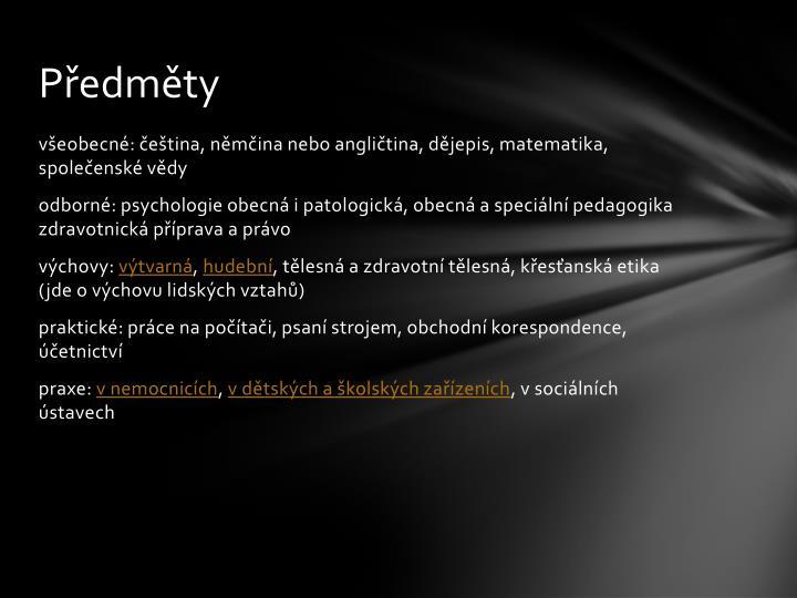 Předměty