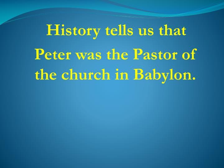 History tells us