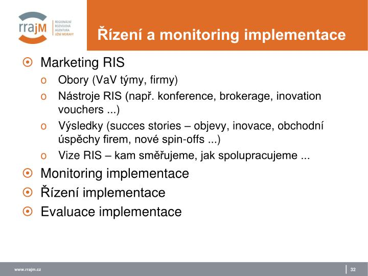 Řízení a monitoring implementace