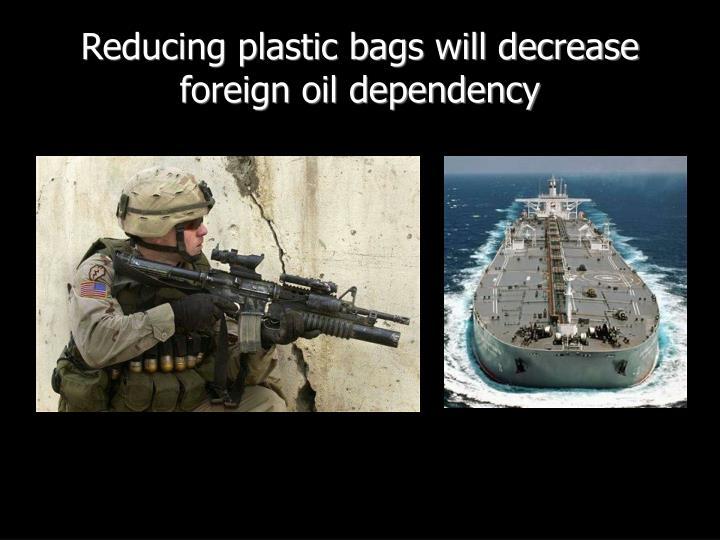 Reducing plastic bags will decrease