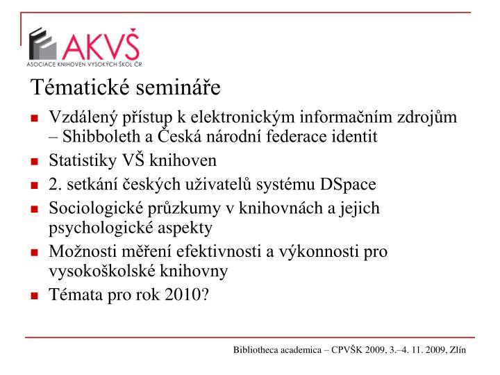 Tématické semináře