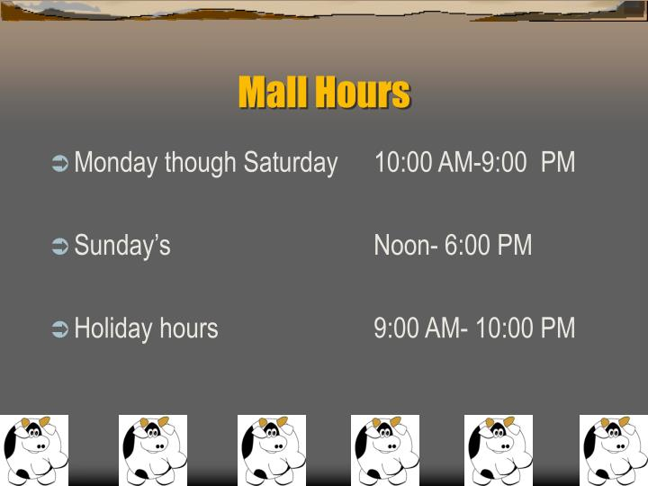Mall Hours