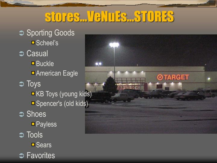 stores…VeNuEs…STORES