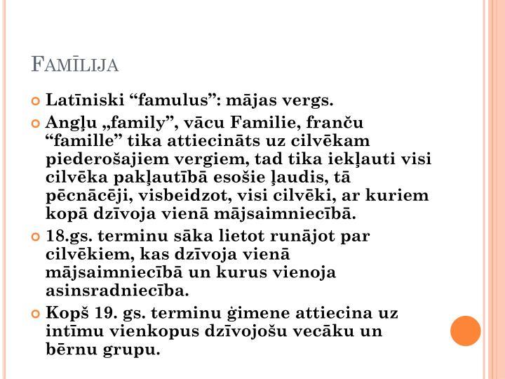 Famīlija