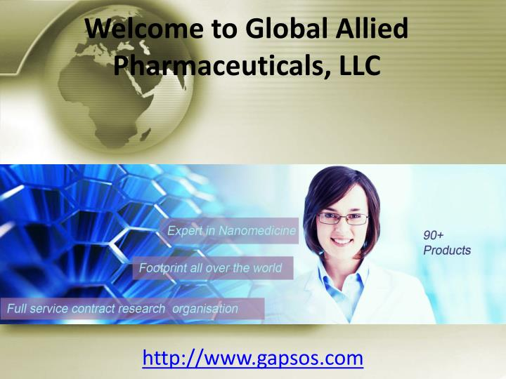 Welcome to global allied pharmaceuticals llc