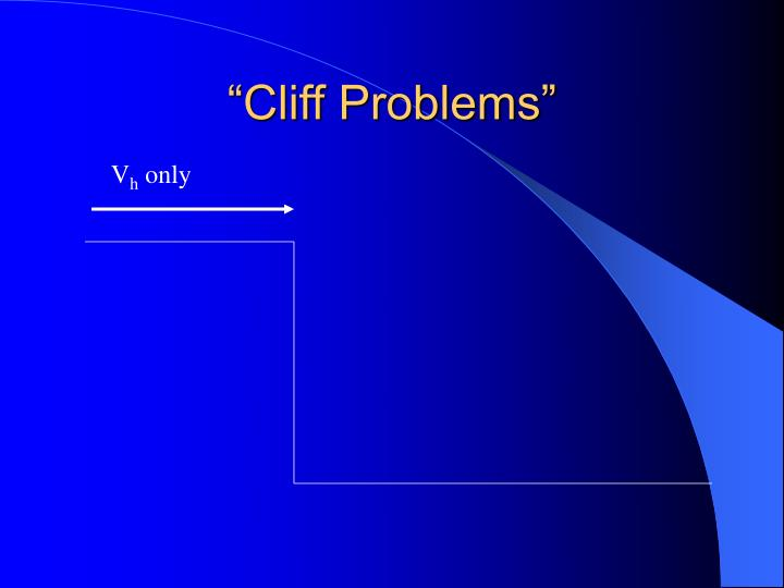 Cliff problems