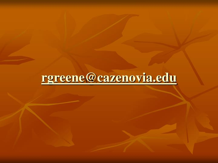 rgreene@cazenovia.edu