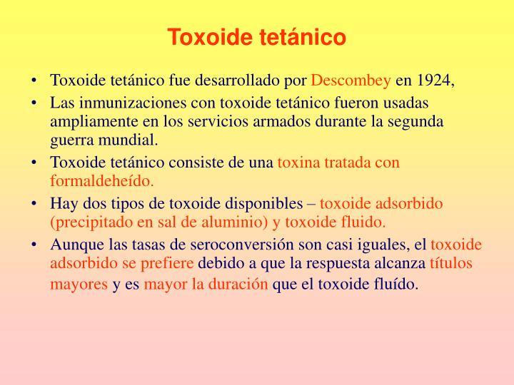 Toxoide tetánico