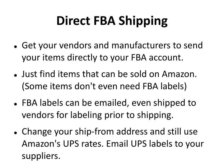 Direct FBA Shipping