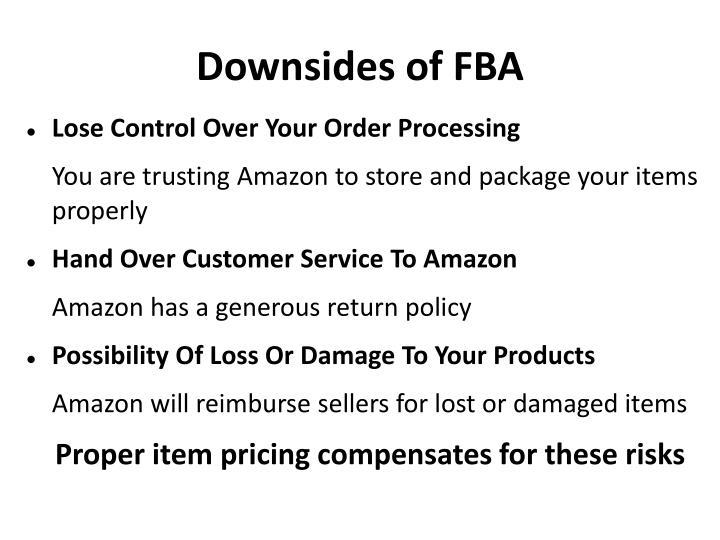 Downsides of FBA