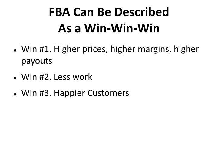 FBA Can Be Described