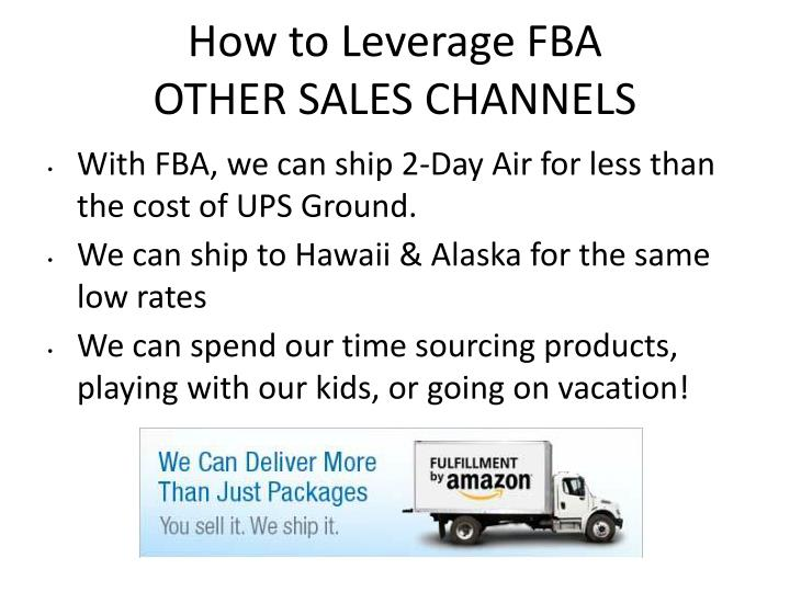 How to Leverage FBA