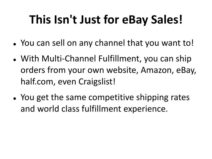 This Isn't Just for eBay Sales!