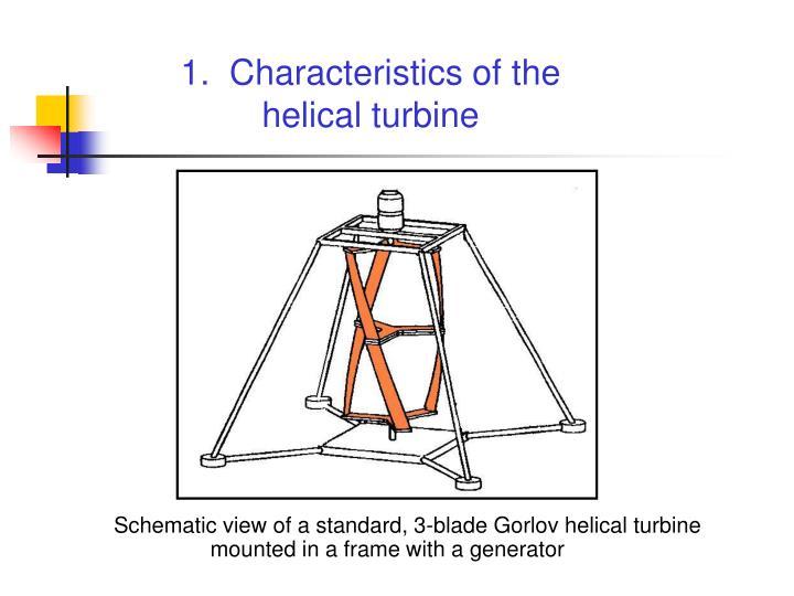 1.  Characteristics of the helical turbine