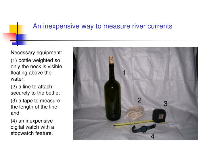 An inexpensive way to measure river currents