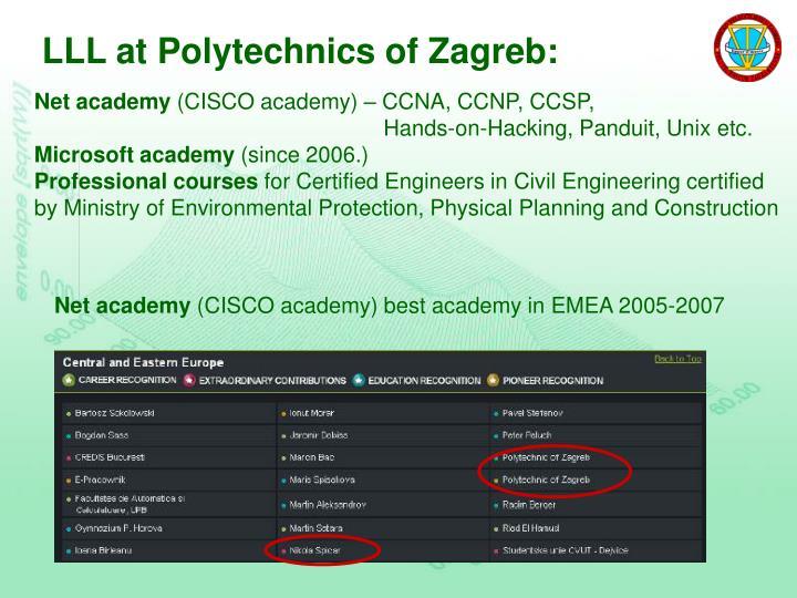 LLL at Polytechnics of Zagreb: