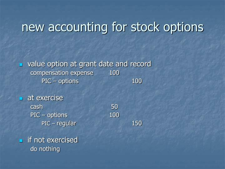 new accounting for stock options