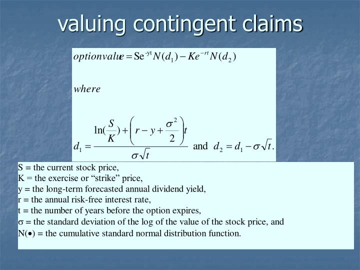 valuing contingent claims
