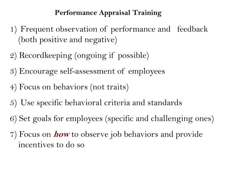 Performance Appraisal Training