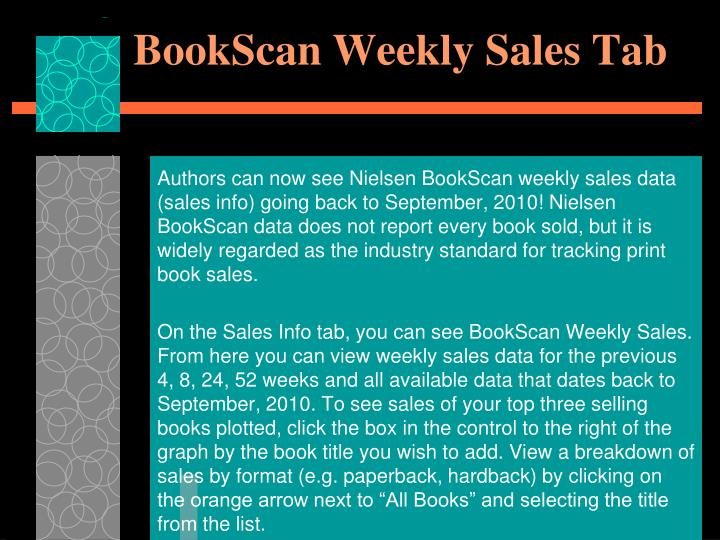 BookScan Weekly Sales Tab