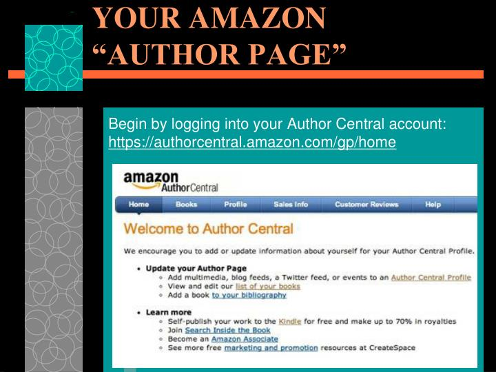 "MANAGE & PROMOTE YOUR AMAZON ""AUTHOR PAGE"""
