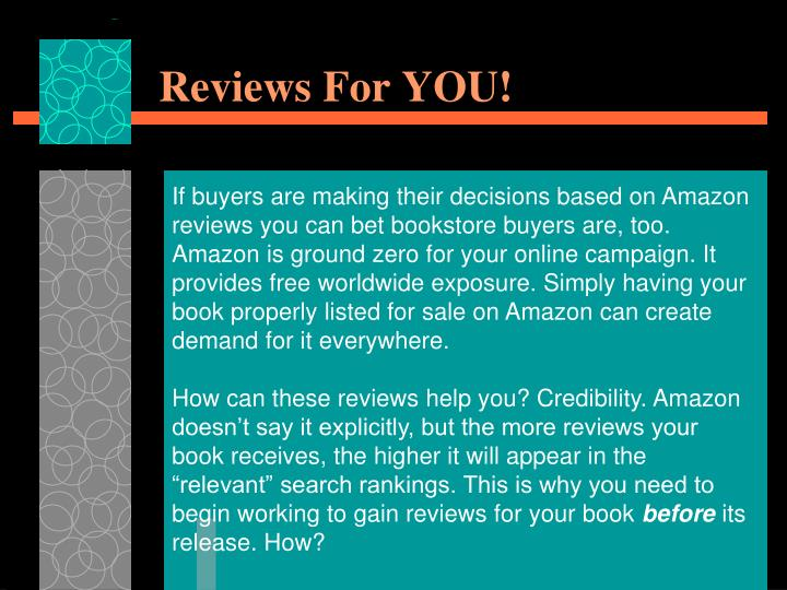 Reviews For YOU!