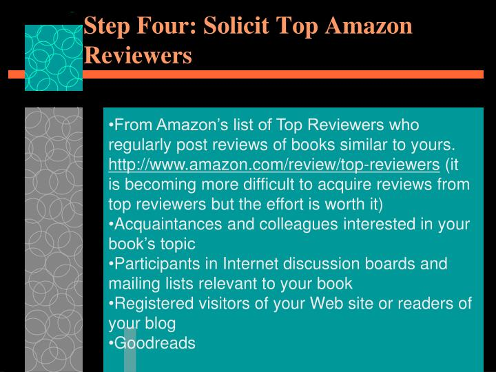 Step Four: Solicit Top Amazon Reviewers
