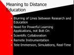 meaning to distance education
