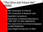 the once and future net msnbc