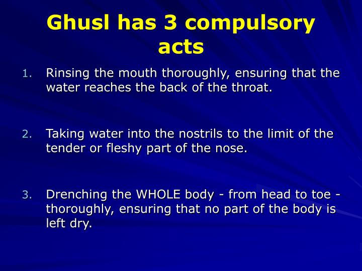 how to take ghusl after menstruation