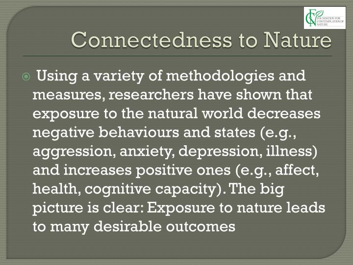 Connectedness to Nature