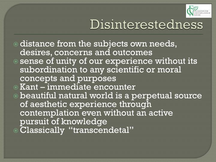 Disinterestedness