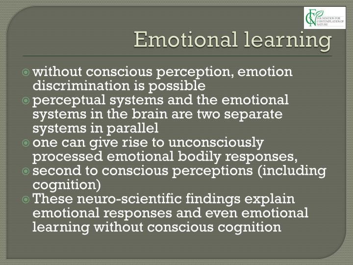 Emotional learning