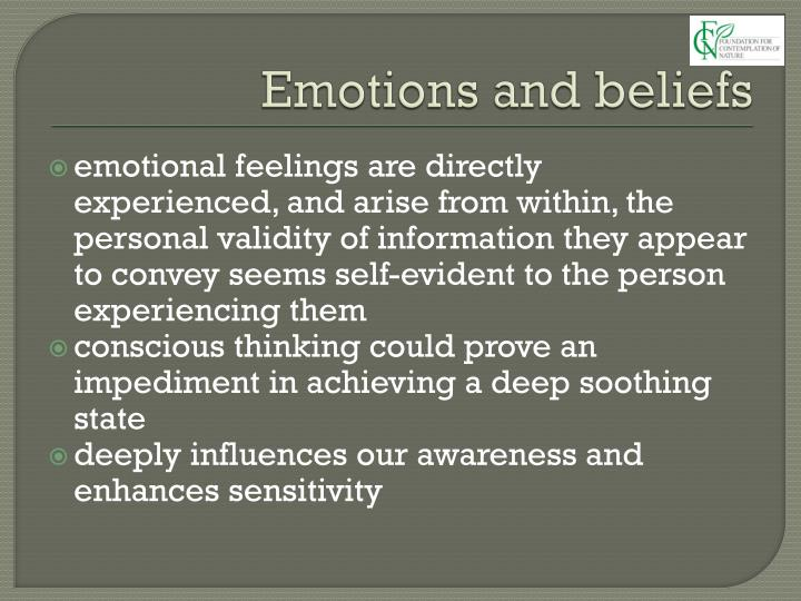 Emotions and beliefs