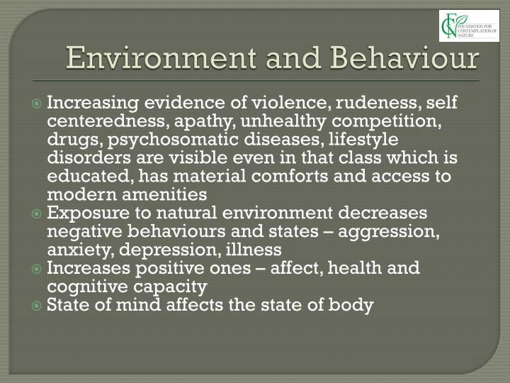 Environment and