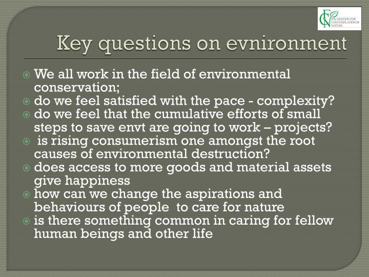 Key questions on