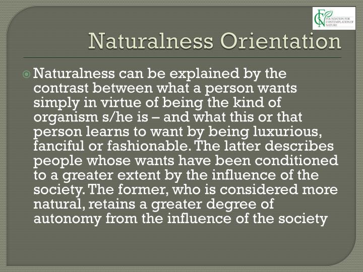 Naturalness Orientation