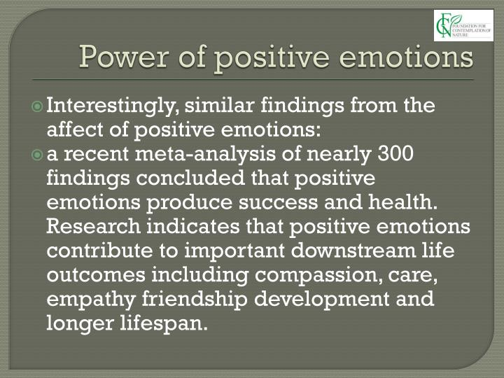 Power of positive emotions