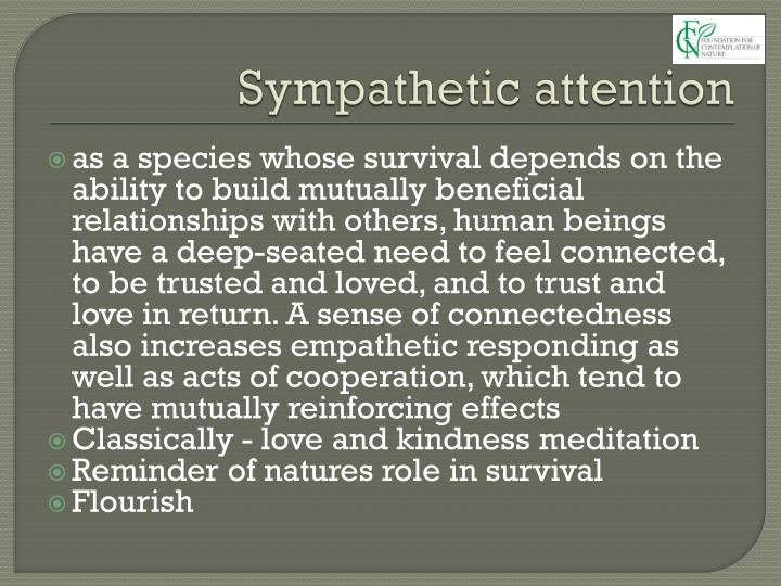 Sympathetic attention