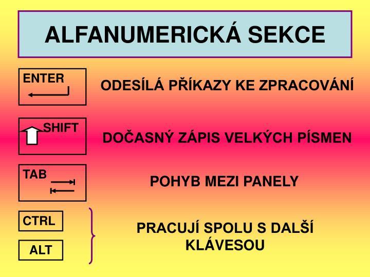 ALFANUMERICKÁ SEKCE