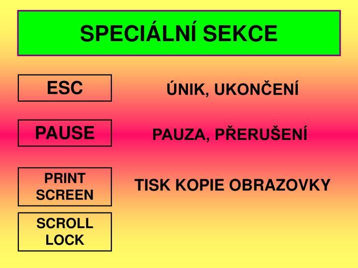 SPECIÁLNÍ SEKCE