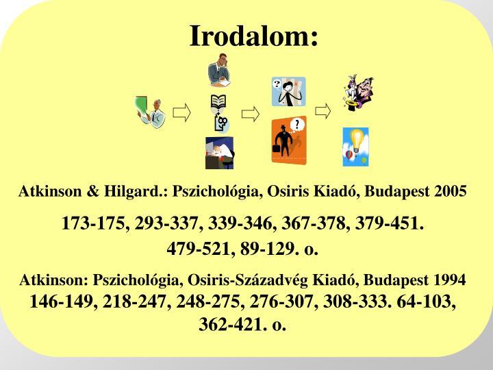 Irodalom: