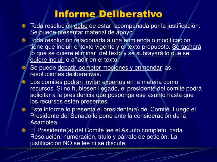 Informe Deliberativo