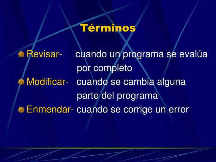 Términos