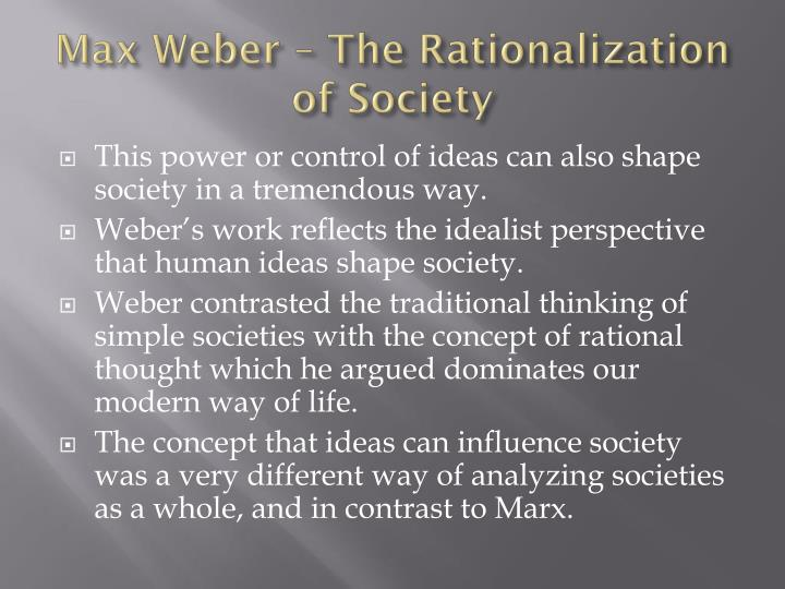 Max Weber – The Rationalization of Society